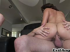 This nasty ladies love to take a huge cock in the mouth for a suck in a hot blowjob and receives a hot cumshot load in the mouth.