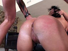 Katja Kassin allows a guy to spank her butt and drill it doggystyle
