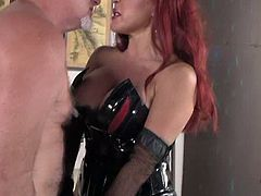 This slave is going to do everything and anything I tell him to do to cause he is my fucking slut slave. He will clean my house, clean my dirty toilet, lick my ass, and more.