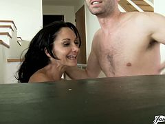 Oily fucking with Ava Addams in the living room