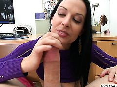 Violet Marcelle with juicy bottom fucking like a first rate hoe in steamy action with horny guy