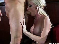 Nadia Hilton with huge tits is hungry for pussy fucking and gets used by horny Derrick Pierce