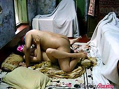 He's on top of her and fucking her like crazy. This Indian couple really loves to fuck each other. Savita gets rammed hard by his erection and she loves, taking his cum inside her vagina. Will she get pregnant?