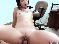 Busty asian babe with amazing smile goes part6