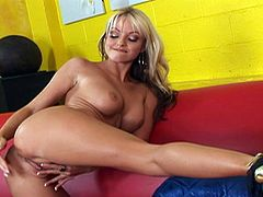 Masturbating from a platinum blonde's perspective, as she lays down on hard dick.