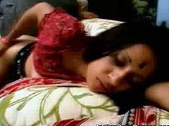 Lucky two guys to have found this round assed Indian babe Tina who agrees to have sex with them all night long. Watch how she spreads her legs open wide giving access to her hairy cunt.