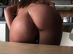 Hardcore solo with brunette Austin Kincaid fingering her hot pussy