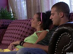 His Mommy brings you a hell of a free porn video where you can see how this mature blonde plays with a naughty brunette teen while assuming hot positions.