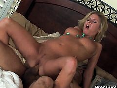 Riley Evans shows off her hard clit as she gets hammered