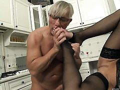 Abbie Cat turns Christoph Clark on and takes his rod in her mouth before she takes it in her butt