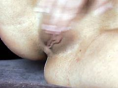 Sarah Peachez with small tities and smooth twat cant stop toying her twat
