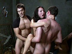 Visit official Bound Gangbangs's HomepageAsa Akira enjoys cock deep in each of her tight holes during steamy gangbang porn show which makes her scream of pleasures