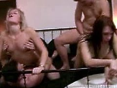Czech Mega Swingers brings you a hell of a free porn video where you can see how these blonde and brunette Czech sluts get banged hard and deep into massive orgasms.