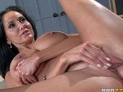 Ava Addams is a slutty MILF teacher with perfect big boobs, She bares her huge hooters and gets down on her knees before her student finds his dick sucked. This passionate big titted lady fucks like a first rate hoe!
