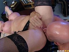 Unmerciful boss Johnny Sins fucks the shit out of big boobed tattooed brunette Darling Danika behind the closed door. Rough sex is what he loves so much. Office newbie gets treated like a fuck toy!