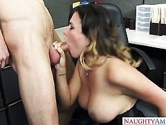 With juicy hooters and bald beaver loves deep ass slamming in steamy anal action with Ryan Mclane