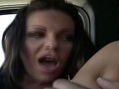 A lucky guy picks up a hot milf from a bookstore who sucks on his cock while they are in his car, on the way to his place. When they get there, he fucks her some more.