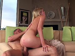 Lacie Heart jumps on a dick after enjoying some fervent spanking
