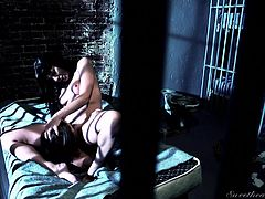 Lesbians can have fun even behind bars! Two horny sexy ladies undress and lay on the matress. You can enjoy, watching some kinky hot scenes of face sitting and an exciting rimjob. Their naked bodies and small tits look wonderful in the natural light of day, coming through the window's bars. Click to see all!