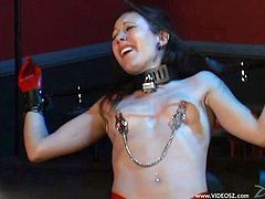 Naughty bdsm fetish babe enjoys getting tied up then spanked