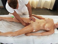Hot Oiled Massage Gone Hardcore Doggystyle Pounding