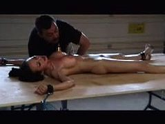 Asian slavegirl Ange Venus in hotwaxing torments
