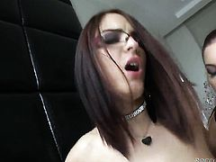 Mira Sunset getting mouth pounded by Omar Galantis throbbing dick before asshole fucking