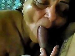 70yr Mature Blowjob She dont like cum in mouth
