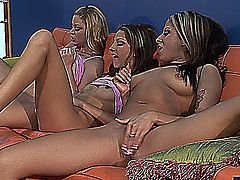 jenna haze & two of her friends masturbate