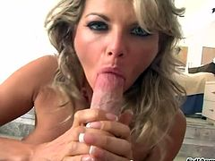 Lovely porn sweetheart Vicky Vette gets banged with a hot cumshot