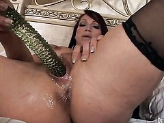 Nicki Hunter cant resist the temptation to take his hard cock in her love hole