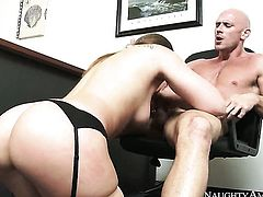 Dani Daniels getting her dripping wet beaver humped by Johnny Sins