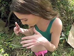 Visit official Teens Love Money's HomepageLustful Molly Jane sure loves cracking her shaved pussy in outdoors, enjoying cock deep and fast in serious POV style