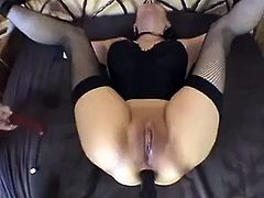 Wife tied dildo and anal fuck