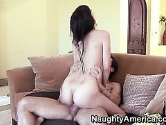 Alan Stafford whips out his snake to fuck irresistibly sexy April ONeils hole