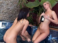 Blonde Nicole Sweet has some time to get some pleasure with lesbian Sheila Grant