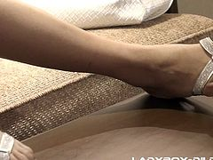 Thai ladyboy Cartoon shoves a dildo in her tight asshole, while she tugs on her beautiful lady cock. She plays with her nipples and she is going to make herself cum all over herself, because she is so horny.