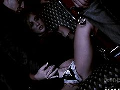 Amy Brooke is a sexy vampire, who loves to get fucked. But it's not just one guy who can quench her thirst. She gets her pussy licked by the two of them and makes sure, she gives them in return what they want. Watch her have hot Vampire sex, The New Moon style. This flick will make you hard.