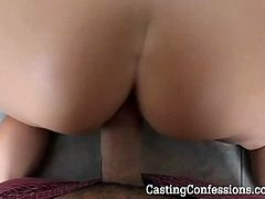 Blonde MILF is tired of her hubby's member and she tried out for porn here as she got to choose a much younger version of cock for her to insert on her cunt.