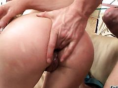Ian Scott gets his always hard schlong eaten by Amabella after butthole fucking