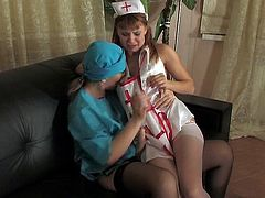 Russian lesbian doctor and nurse