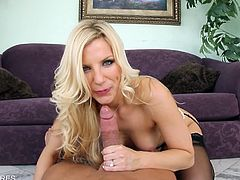 Blonde babe Ashley Fires is crazy about stockings and this time she makes no difference. Watch as she enjoys hardcore drilling by his cock up her tight booty.
