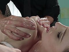 Tattooed Katie St. Ives takes it in her tight wet pink hole
