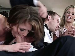Jenni Lee and Scarlet Red amateur threesome experience with Danny D