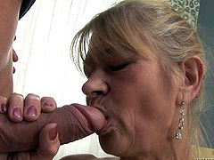 Does granny porn incite you? Then you came to the right place and can enjoy the hardcore sex scenes with a mature bitch and a horny young guy. All that the slutty granny with slim body and saggy tits wants, is a hard dick to suck. Click to see bitchy Beata, spreading her legs widely and fucking wildly...