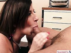 Mr. Pete shows nice sex tricks to Sara Jay with the help of his sturdy worm