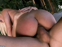 Blonde Blue Angel gets her ass nailed full of fuck stick