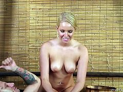 Vanessa knows she is a hottie and is not afraid to use it to her advantage. But having sex is not the only way to go. She gives hot men nuru massages over at a parlor. Now, that is sure to satisfy the client and make her some money. The massages always ends happily, with her giving the man a blowjob.