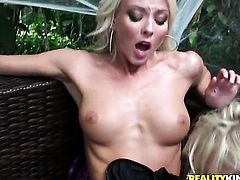 Blonde Molly Cavalli is on the way to orgasm in solo scene
