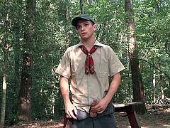 It's time for these fucking little twinks to prove their manhood, so they get an assignment from their team leader. They start their journey into the woods, encounter a snake, show that they are man enough, to deal with such danger and then take a break, to deal with a good old fashioned fuck in the woods.